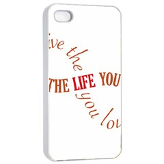 Live The Life You Love Apple iPhone 4/4s Seamless Case (White)