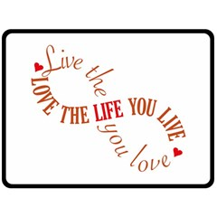 Live The Life You Love Double Sided Fleece Blanket (large)