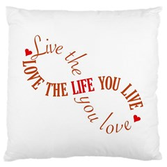 Live The Life You Love Large Flano Cushion Cases (One Side)