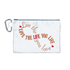 Live The Life You Love Canvas Cosmetic Bag (M)