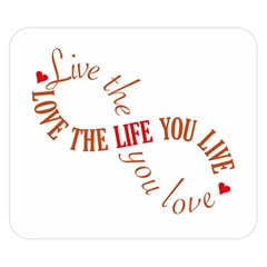 Live The Life You Love Double Sided Flano Blanket (Small)