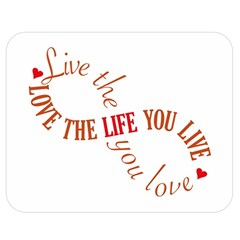 Live The Life You Love Double Sided Flano Blanket (Medium)