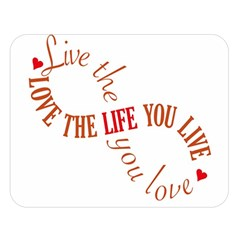 Live The Life You Love Double Sided Flano Blanket (Large)