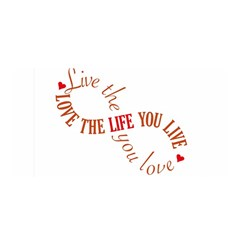 Live The Life You Love Satin Wrap