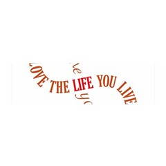 Live The Life You Love Satin Scarf (Oblong)