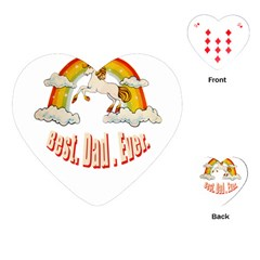 Best  Dad  Ever  Playing Cards (heart)