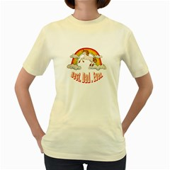 Best. Dad. Ever Women s Yellow T-Shirt