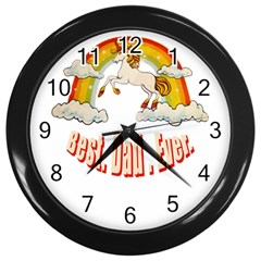 Best  Dad  Ever Wall Clocks (black)