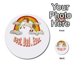Best  Dad  Ever Multi Purpose Cards (round)