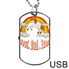 Best. Dad. Ever Dog Tag USB Flash (Two Sides)