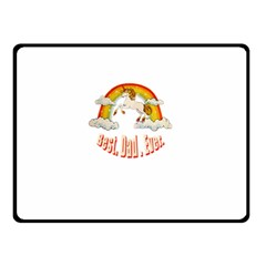 Best  Dad  Ever Double Sided Fleece Blanket (small)