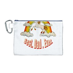 Best  Dad  Ever Canvas Cosmetic Bag (m)