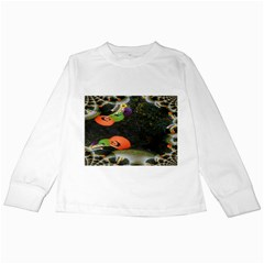 Floating Pumpkins Kids Long Sleeve T-Shirts