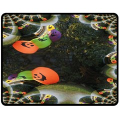 Floating Pumpkins Fleece Blanket (medium)