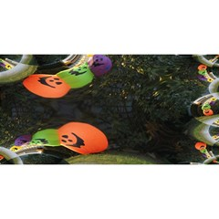 Floating Pumpkins YOU ARE INVITED 3D Greeting Card (8x4)