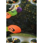 Floating Pumpkins TAKE CARE 3D Greeting Card (7x5)  Inside