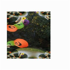 Floating Pumpkins Small Garden Flag (Two Sides)