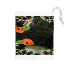 Floating Pumpkins Drawstring Pouches (large)