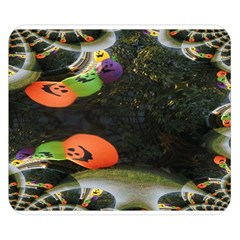 Floating Pumpkins Double Sided Flano Blanket (small)