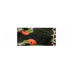 Floating Pumpkins Satin Scarf (Oblong)