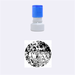 Inked Spot Rubber Stamp Round (small)