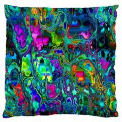 Inked Spot Fractal Art Standard Flano Cushion Case (Two Sides)