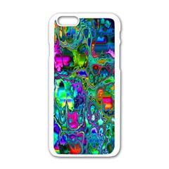 Inked Spot Fractal Art Apple iPhone 6 White Enamel Case