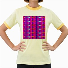Pink Cell Mate Women s Fitted Ringer T-Shirts