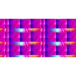Pink Cell Mate Merry Xmas 3D Greeting Card (8x4)  Back