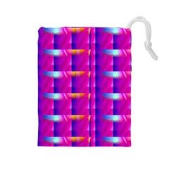 Pink Cell Mate Drawstring Pouches (Large)