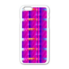 Pink Cell Mate Apple iPhone 6 White Enamel Case