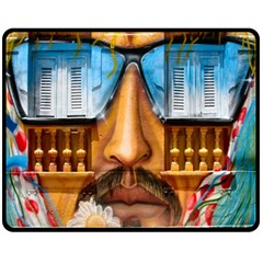 Graffiti Sunglass Art Fleece Blanket (Medium)