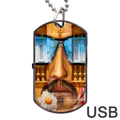 Graffiti Sunglass Art Dog Tag USB Flash (One Side)