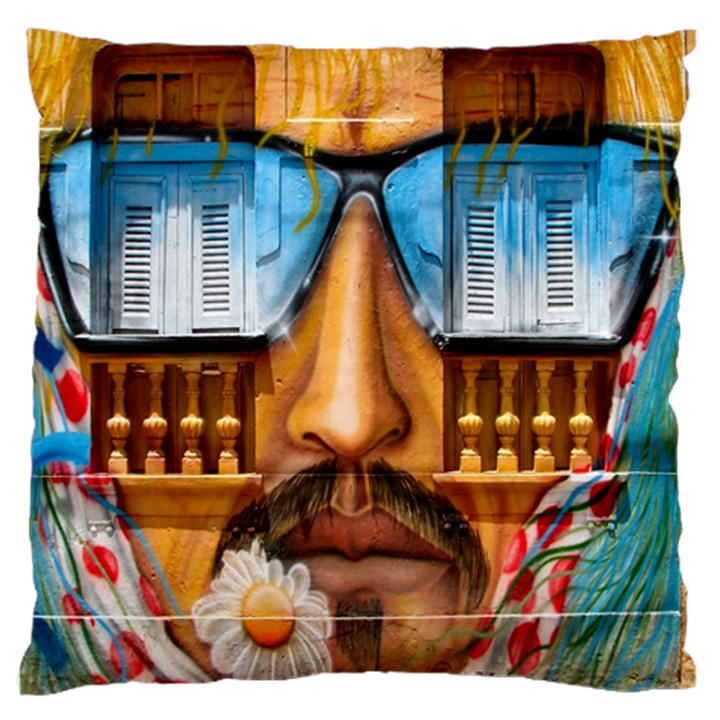 Graffiti Sunglass Art Standard Flano Cushion Cases (Two Sides)