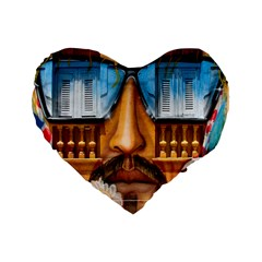 Graffiti Sunglass Art Standard 16  Premium Flano Heart Shape Cushions