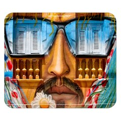 Graffiti Sunglass Art Double Sided Flano Blanket (Small)