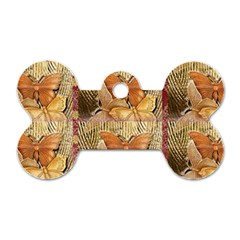 Butterflies Dog Tag Bone (one Side)