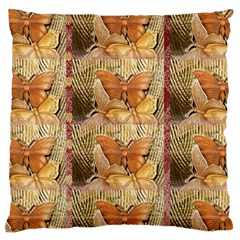 Butterflies Large Flano Cushion Cases (One Side)