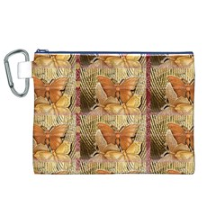 Butterflies Canvas Cosmetic Bag (XL)