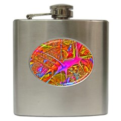 Biology 101 Abstract Hip Flask (6 Oz)