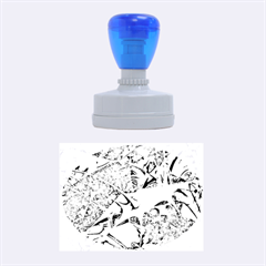 Biology 101 Abstract Rubber Oval Stamps