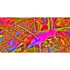 Biology 101 Abstract You Are Invited 3d Greeting Card (8x4)