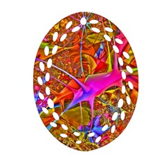 Biology 101 Abstract Oval Filigree Ornament (2-Side)
