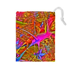 Biology 101 Abstract Drawstring Pouches (Large)