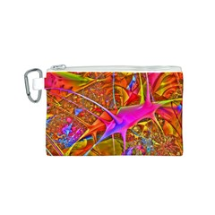 Biology 101 Abstract Canvas Cosmetic Bag (S)