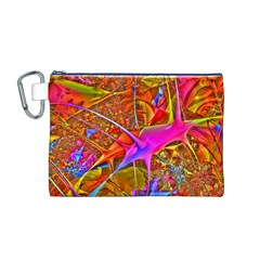 Biology 101 Abstract Canvas Cosmetic Bag (m)