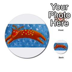 Rudolph The Reindeer Multi Purpose Cards (round)