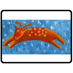 Rudolph The Reindeer Fleece Blanket (large)