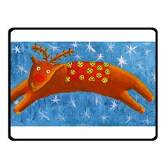 Rudolph The Reindeer Fleece Blanket (Small)