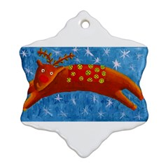 Rudolph The Reindeer Ornament (Snowflake)